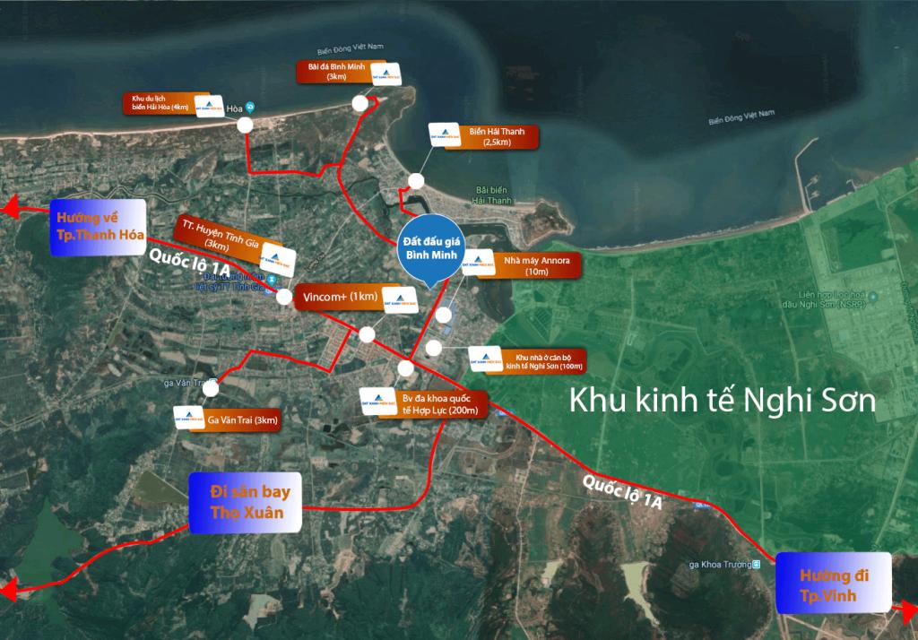 Tiện ích, liên kết vùng đất nền Bình Minh - Tĩnh Gia