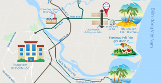 Bản đồ liên kết vùng đất nền Hải Tiến