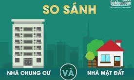 So sánh chung cư với nhà ở mặt đất